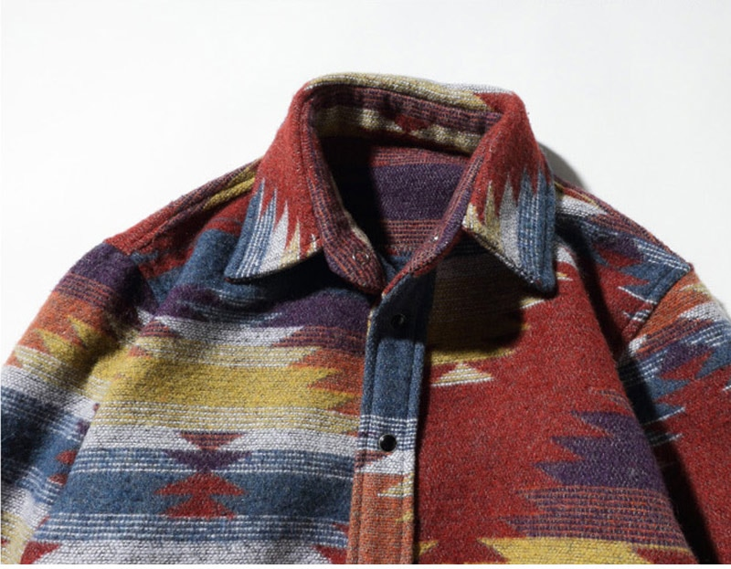 Men's Flannel Shirt with Pattern